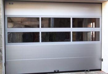 MICRONDULATO - RAL 9006 - LISCIO con pannello panoramico Rivoli