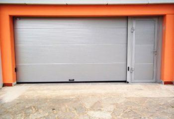 Micro ondulato argento con porta pedonale Asti 1