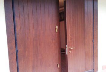 porta basculante, rivestita legno, Castellamonte